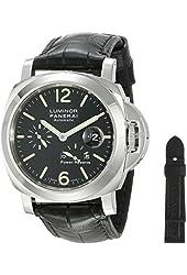 Panerai Men's PAM00090 Luminor Power Reserve Black Dial Watch
