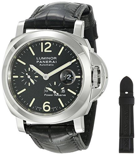 panerai-luminor-homme-44mm-bracelet-cuir-noir-boitier-acier-inoxydable-saphire-automatique-montre-pa