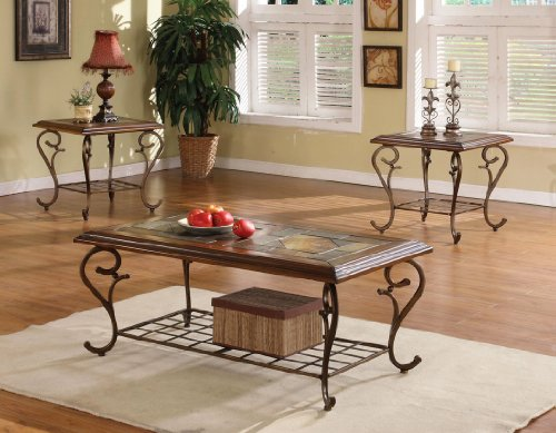 Image of OCCASIONAL TABLE COLLECTION COFFE END HUBBS 3 PIECE SET (B008W1AYM8)