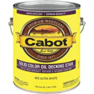 Cabot Solid Color Oil-Based Decking Stain-ULT WHT SOLID DECK STAIN