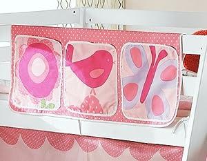 Bed Tidy, Pocket / Organiser for Cabin Beds/Bunks in FLORAL BLOOM DESIGN