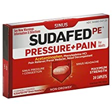 Sudafed PE Pressure + Pain, for Adults, Maximum Strength, Caplets, 24 caplets