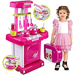 Sunshine Luxury Battery Operated Kitchen Set With Lights, Sound and Carry Case