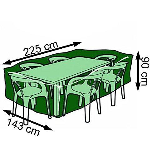 Nortene Schutzhülle Rimini für Gartenmöbel eckige Gartentische 100g/m² 90 x 225 x 143 cm kaufen