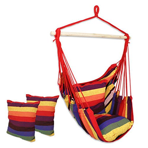 NEW nags head hammocks Outdoor Cotton Striped Hanging Hammock Rope Chair Porch Camping Patio Swing Seat (Tie Dye Tarp compare prices)