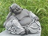 Garden ornaments Buddha, Cast stone, Slate gray