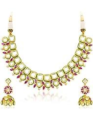 Sukkhi Stylish Gold Plated Kundan Fusion Jewellery Set For Women