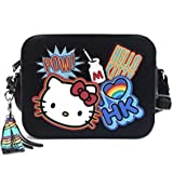 Loungefly X Hello Kitty Bright Rainbow Crossbody Bag in Black/Multi