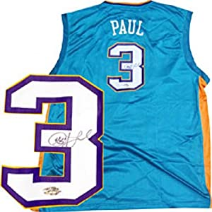 Chris Paul Autographed Signed Teal New Orleans Hornets Replica Jersey by Hollywood Collectibles