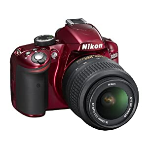 Nikon D3200 24.2 MP CMOS Digital SLR red