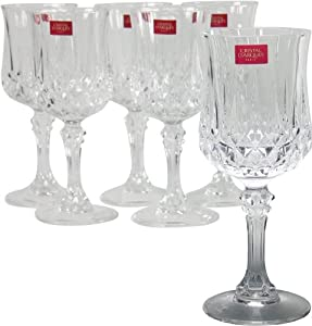 cristal d 39 arques 9295224 longchamp coffret de 6 verres. Black Bedroom Furniture Sets. Home Design Ideas