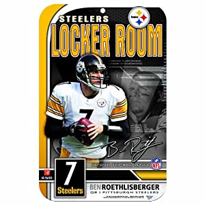 NFL Pittsburgh Steelers Ben Roethlisberger 11-by-17 inch Sign at SteelerMania