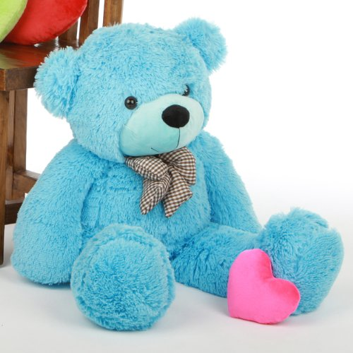 Happy Cuddles   30   Super Cute & Huggable, Giant Teddy Sky Blue stuffed Plush teddy Bear