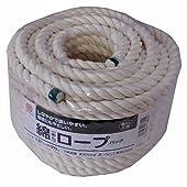 まつうら工業 綿素材 ロープ 太さ12mm 長さ20m 丸巻パック