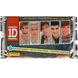 1d One Direction Photocards Pack Of 6 Cards With Checklist by Panini