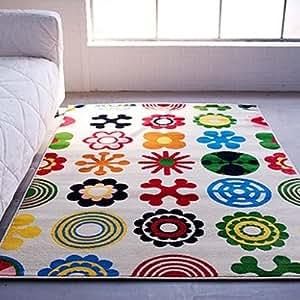 IKEA LUSY BLOM Rug Low Pile Modern Carpet