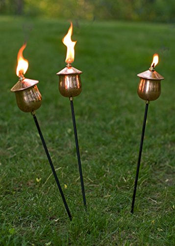 Cheapest Price! H Potter Mini Copper Torches (Set of Three)