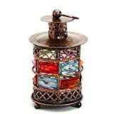 Aapno Rajasthan Metal Durable Tea Light Holder With Balled Feet (Copper)