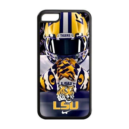 Purple Protective NCAA Lsu Tigers Apple Iphone 5C Case Cover TPU University Football logo Helmet