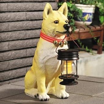 ソーラーライト付柴犬(ポチ)