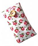Padded Case Sleeve for iPhone 4 4S Made By Hoochiboo in Cath Kidston Button Rose