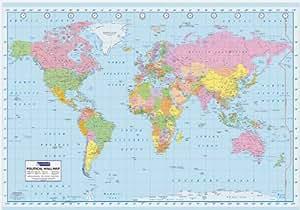 世界地図 World Map ポスター (110527)