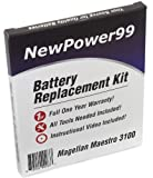 Battery Replacement Kit for Magellan Maestro 3100 with Installation Video, Tools, and Extended Life Battery.