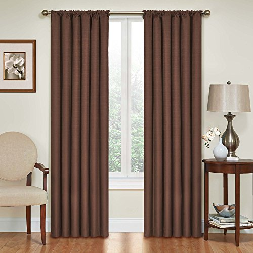 Eclipse Kendall Blackout Thermal Curtain Panel,Chocolate,84-Inch (Chocolate Brown Curtains compare prices)