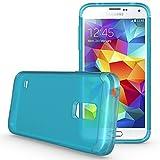 TUDIA Ultra Slim LITE TPU Bumper Protective Case for Samsung Galaxy S5 Mini ** For S5 Mini Version ONLY ** (Teal)