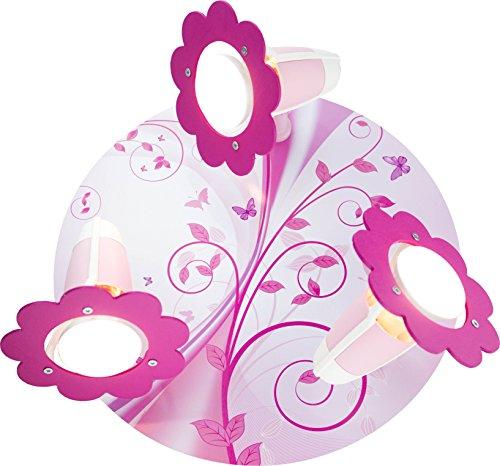Kinder Lampe Deckenleuchte Phantasie Rondell Kinderzimmer Holz, rosa 132043