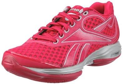 Reebok Easytone + 150318, Damen Sportschuhe - Fitness, Rot (uberberry/silver/flat grey/white 4), EU 40 (UK 6.5)