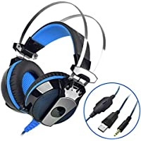 PS4 Gaming Headset VOXLINK Xbox One LED Lighting Computer Headphone With Mic Stereo Bass For PlayStation4 Xbox...