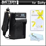 Battery Charger Kit For Sony Cyber-Shot DSC-W530, DSC-W620, DSC-W650, DSC-W610 Digital Camera Includes Ac/Dc 110/220 Rapid Travel Charger For Sony NP-BN1 Battery + LCD Screen Protectors + MicroFiber Cloth ~ ButterflyPhoto