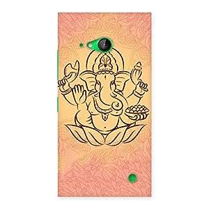 Premium Jai Ganesha Print Back Case Cover for Lumia 730