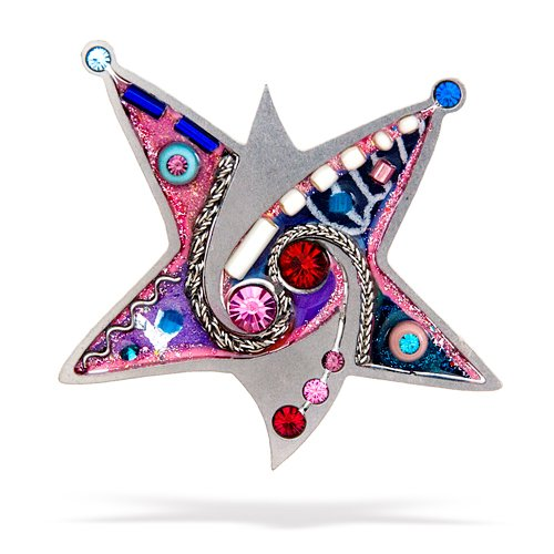 Pink Star of David Pin from the Artazia Collection #2301PK JP OP