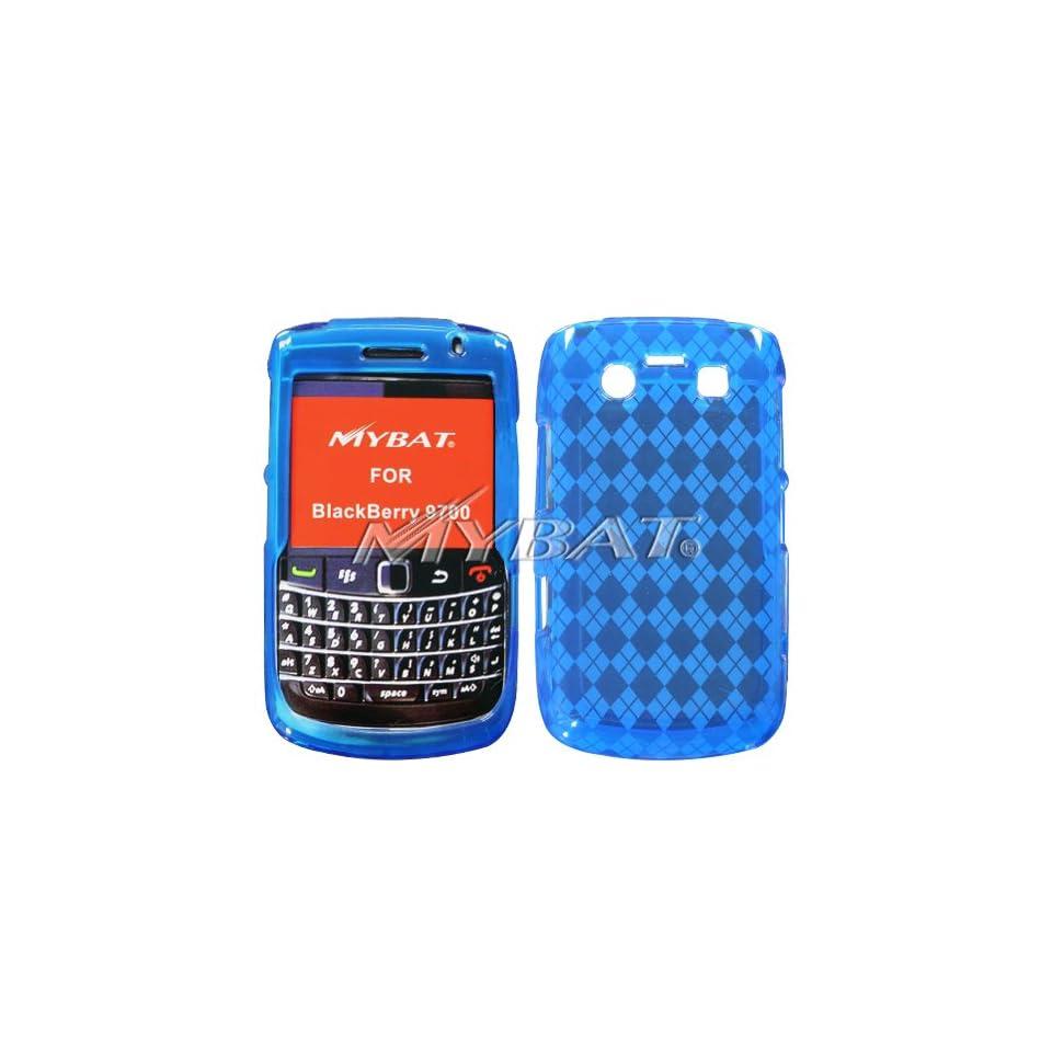 BLACKBERRY 9700 Dr Blue Argyle pane Candy Skin Case