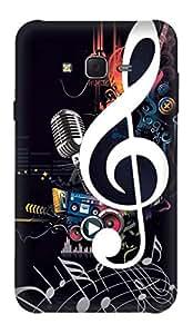 Customize Guru Designer Hard Plastic (Matt Finish) Back Cover For Samsung J5 (2015)