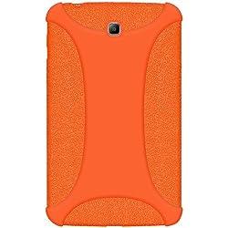 Amzer 96087 Silicone Skin Jelly Case - Orange for Samsung Galaxy Tab 3 211 SM-T2110, Samsung Galaxy Tab 3 7.0 GT-P3200, Samsung Galaxy Tab 3 7.0 GT-P3210