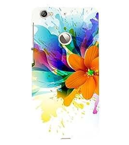 Beautiful Flower Pattern 3D Hard Polycarbonate Designer Back Case Cover for LeEco Le 1s :: LeEco Le 1s Eco :: LeTV 1S