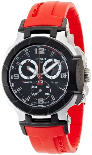 Tissot Men's T0484172705701 T-Race Red Strap Chronograph Watch