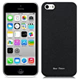 Bear Motion (TM) Premium Slim iPhone 5C Back Cover Case for Apple iPhone 5C - Sand (Black)