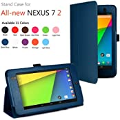 "YESOOâ""¢ 2013 Google Nexus 7 2nd Gen FHD ASUS-2B32 Tablet Slim Fit Folio Leather Case Cover(Does Not Fit 2012..."