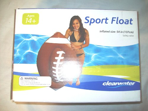 clearwater Sport Water Float - Football design - inflated size is 53 inches