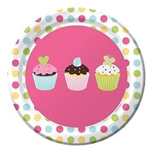 Creative Converting Sweet Treats Round Dessert Plates, 8 Count