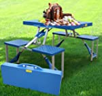Outsunny Folding Picnic Table Chair O...