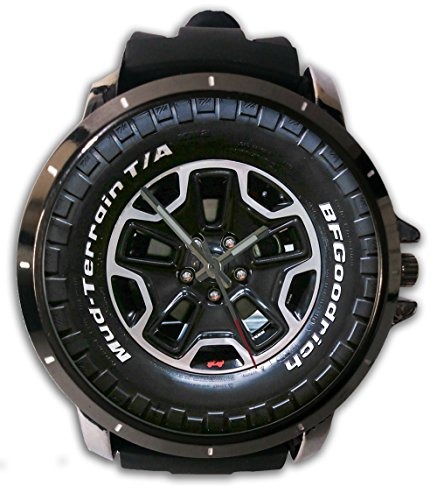 New Custom Printed New Wheels Jeep 4 X 4 Custom Watch Alloy Stainless-Steel With Rubber Band