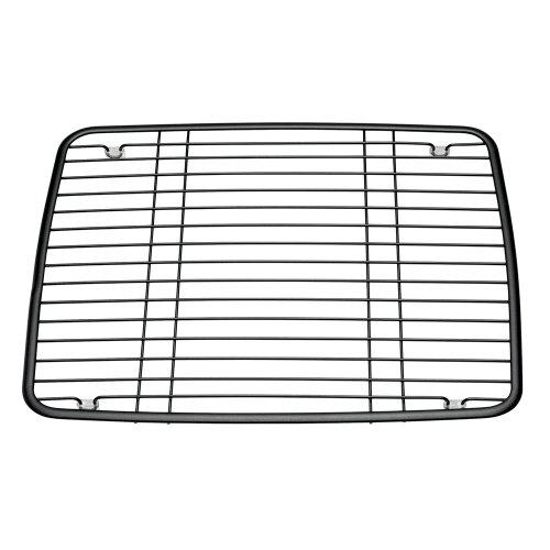 interdesign axis kitchen sink protector grid pearl black
