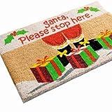 Santa Stop Here Coir Doormat (60cm x 40cm)