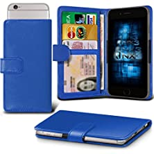 buy (Blue) Xolo Cube 5.0 Adjustable Spring Wallet Id Card Holder Case Cover Onx3