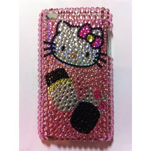 Pink Hello Kitty Crystal Diamond Bling Rhinestone Protector Hard Skin